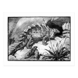 Alicia B. Woodward: Postal del arte del Stegosauru