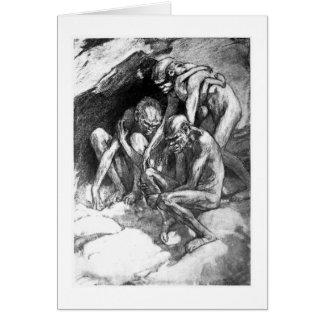 Alicia B. Woodward: Tarjeta del arte del Pithecant