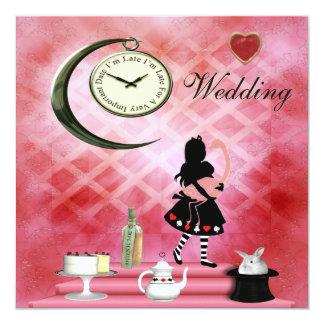 Alicia caprichosa y boda rosado del flamenco anuncio