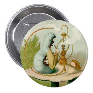 """Alicia-Caterpillar con Hooka - 3"""" botón Pins"""
