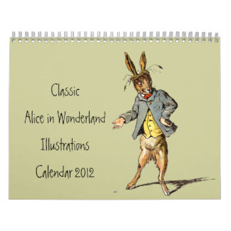 Alicia clásica en calendario del país de las