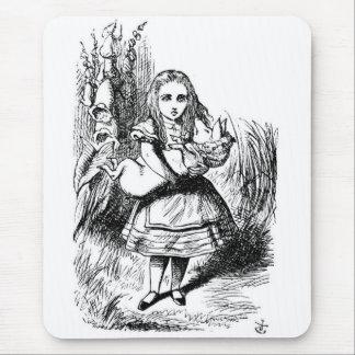 Alicia con el cerdo alfombrilla de ratones