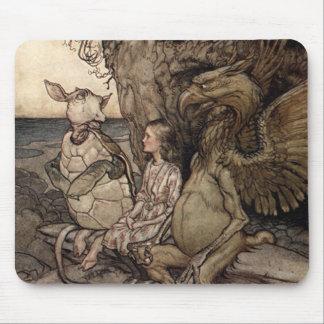 Alicia con el Gryphon y la tortuga falsa Tapete De Ratón