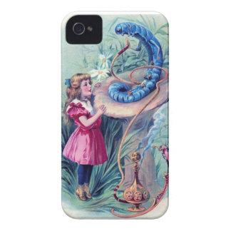Alicia con la cachimba que fuma Caterpillar Case-Mate iPhone 4 Cárcasas