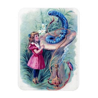 Alicia con la cachimba que fuma Caterpillar Imanes Flexibles