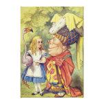 Alicia con la duquesa impresión en lienzo estirada