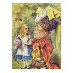 Alicia con la duquesa tarjeta postal