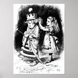 Alicia con la reina blanca posters