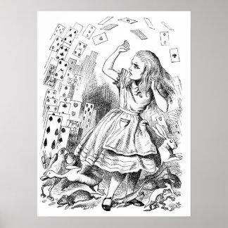 Alicia con las tarjetas poster