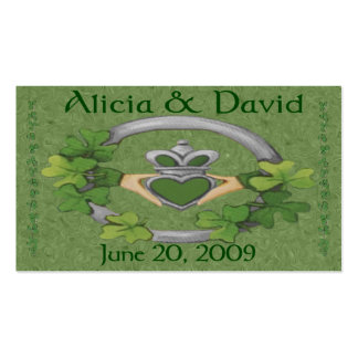 Alicia & David's Wedding Cards (Green) Double-Sided Standard Business Cards (Pack Of 100)