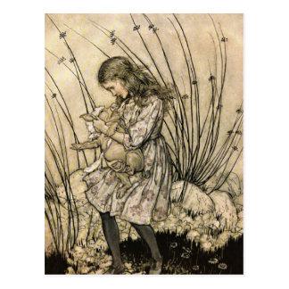 Alicia de Rackham en el país de las maravillas Tarjetas Postales