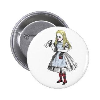 Alicia dice la insignia sí escocesa del botón de l pin redondo de 2 pulgadas