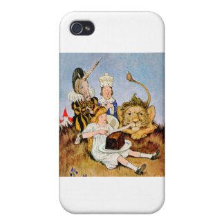 Alicia dice un león y la torta del unicornio lo ha iPhone 4/4S funda