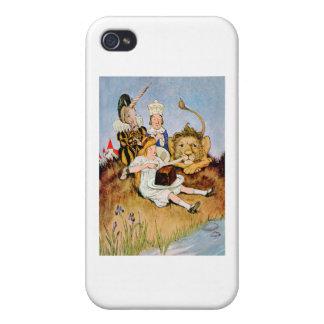 Alicia dice un león y la torta del unicornio lo ha iPhone 4 fundas