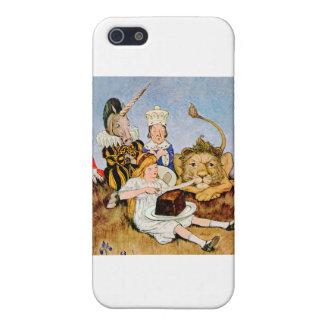 Alicia dice un león y la torta del unicornio lo ha iPhone 5 cárcasa