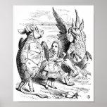Alicia, el Gryphon y la danza falsa de la tortuga Posters