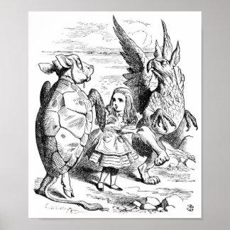 Alicia el Gryphon y la danza falsa de la tortuga Posters