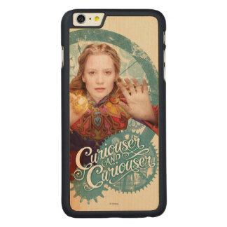 Alicia el   más curioso y más curioso funda de arce carved® para iPhone 6 plus