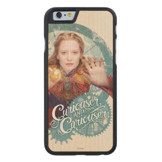 Alicia el   más curioso y más curioso funda de iPhone 6 carved® de arce