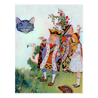 Alicia, el rey de los corazones y del gato de Ches Postales