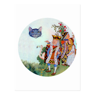 Alicia, el rey de los corazones y del gato de postales