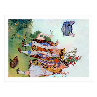 Alicia, el rey de los corazones y del gato de tarjeta postal