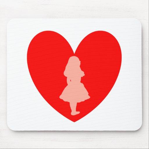 Alicia en amor del país de las maravillas mousepad