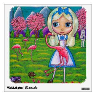 Alicia en arte grande del ojo del país de las mara vinilo adhesivo