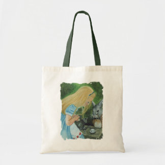 Alicia en bolso del país de las maravillas bolsas lienzo