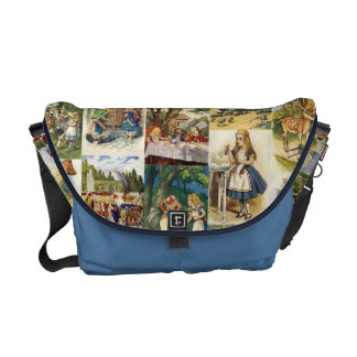 Alicia en bolso del país de las maravillas bolsa de mensajeria