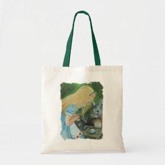 Alicia en bolso del país de las maravillas bolsa tela barata
