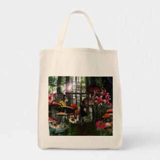 Alicia en bolso del país de las maravillas bolsa tela para la compra