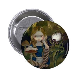 """""""Alicia en botón de un paisaje de Bosch"""""""