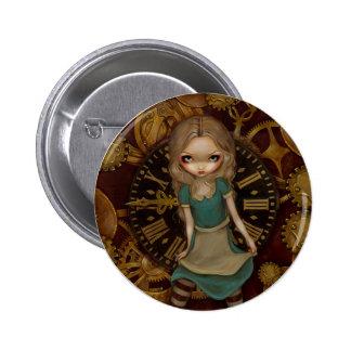 """""""Alicia en botón del mecanismo"""" Pin Redondo De 2 Pulgadas"""