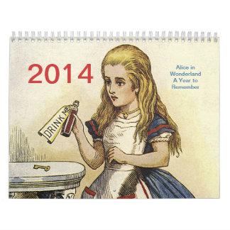 Alicia en calendario del país de las maravillas 20