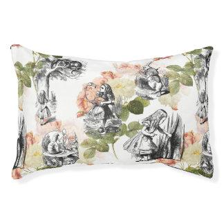 Alicia en cama del perro de los rosas del vintage