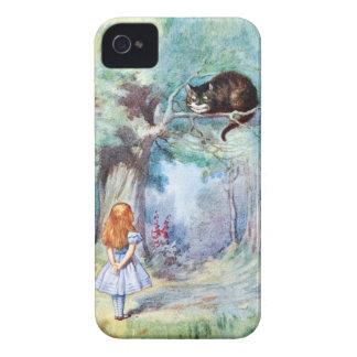 Alicia en caso del iPhone 4 del gato de Cheshire d iPhone 4 Case-Mate Cárcasas