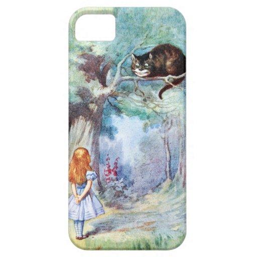 Alicia en caso del iPhone 5 del gato de Cheshire d iPhone 5 Cárcasa