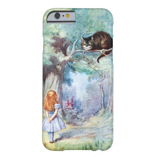 Alicia en caso del iPhone 6 del gato de Cheshire Funda De iPhone 6 Barely There