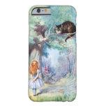 Alicia en caso del iPhone 6 del gato de Cheshire Funda Para iPhone 6 Barely There