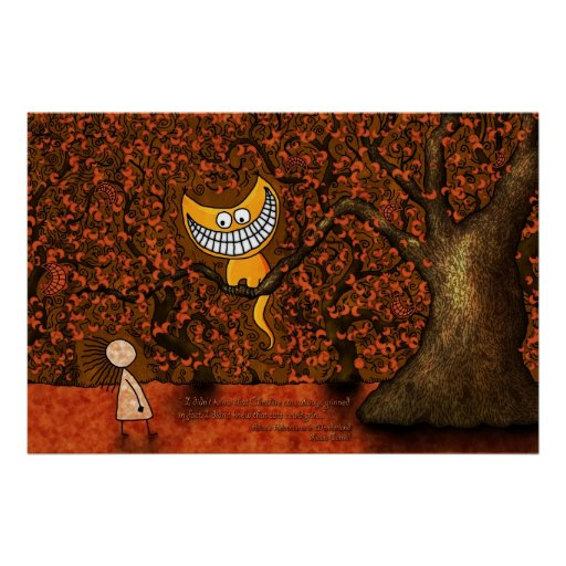 Alicia en Cheshire un gato del país de las maravil Posters