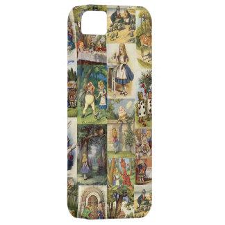 Alicia en collage del caso de Iphone del país de Funda Para iPhone 5 Barely There
