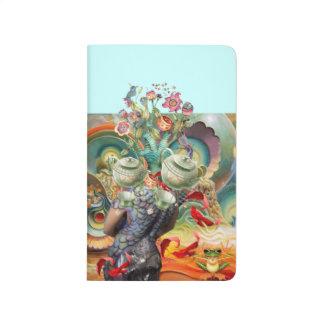 Alicia en collage del país de las maravillas cuaderno