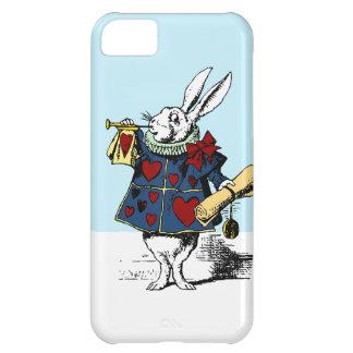 Alicia en conejo del blanco del caso del iphone 5  funda para iPhone 5C