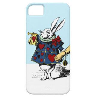 Alicia en conejo del blanco del caso del iphone 5 funda para iPhone SE/5/5s