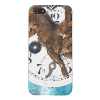 Alicia en conejo del reloj de bolsillo del país de iPhone 5 fundas