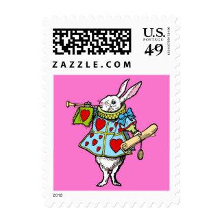 Alicia en corazones del rojo del conejo del sello