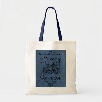 Alicia en cubierta de libro del país de las maravi bolsa tela barata