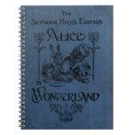 Alicia en cubierta de libro del país de las maravi libreta espiral