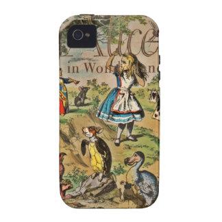 Alicia en cubierta del país de las maravillas iPhone 4/4S carcasa